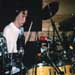 Alban recording drums for Living Spirit